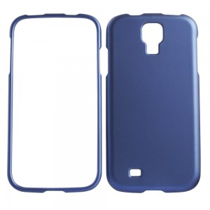 Blue rubberized snap on cover for Samsung Galaxy S4