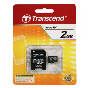 2GB microSD Memory Card with SD Adapter