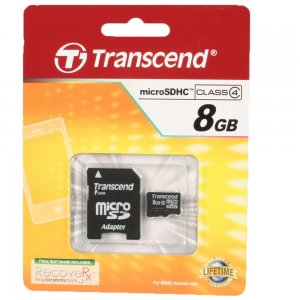 8GB microSDHC High Capacity Memory Card with SDHC Adapter