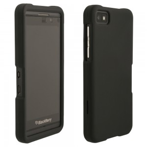 Black Rubberized Protective Shield compatible with Blackberry Z10