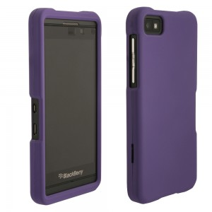 Rav'ns Purple Rubberized Protective Shield compatible with Blackberry Z10