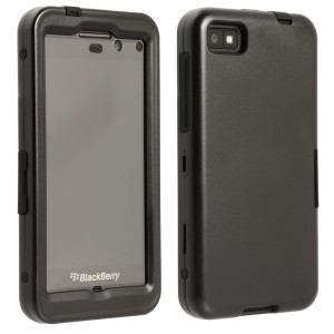 Hybrid Plus Case and Holster Combo Compatible with Blackberry Z10 - Black/Black