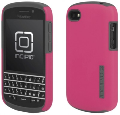 Incipio DualPro Case for BlackBerry Q10 in Pink/Gray