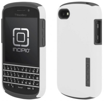 Incipio DualPro Case for BlackBerry Q10 in White/Gray