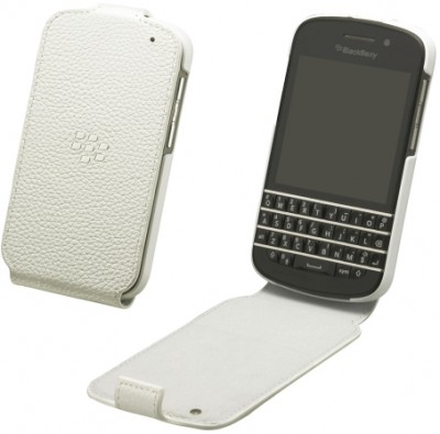 BlackBerry Flip Shell Case for BlackBerry Q10 in White