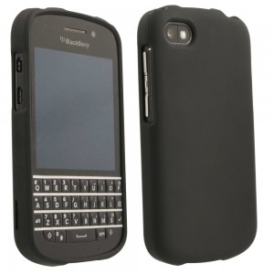 Black Rubberized Protective Shield compatible with Blackberry Q10