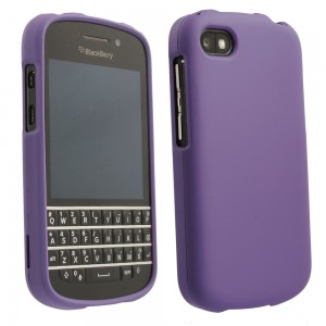 Purple Rubberized Protective Shield compatible with Blackberry Q10
