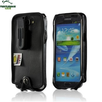 Samsung Galaxy Note 2 & 3 Turtleback Executive Leather Case w/Swivel Belt Clip