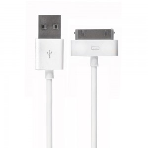 Ventev Charging/Sync Cable (USB A to MFI 30-pin Connector), White