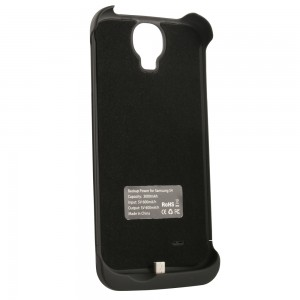 Power Case 3000mAh Li-Polymer Battery Pack Case Compatible with Samsung Galaxy S4- Black