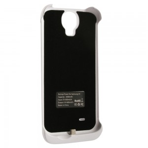 Power Case 3000mAh Li-Polymer Battery Pack Case Compatible with Samsung Galaxy S4- White