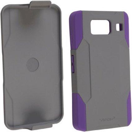 Ventev fusionpro Case, Motorola RAZR Maxx HD, Gray/Purple
