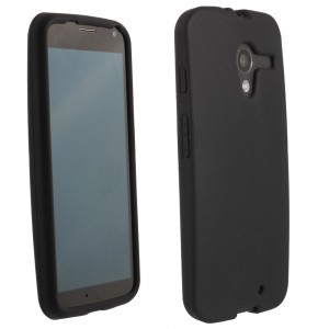 Black Silicone Sleeve compatible with Motorola X XT1056