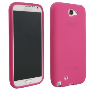 Pink Solid Color TPU Case compatible with Samsung Galaxy Note 3s