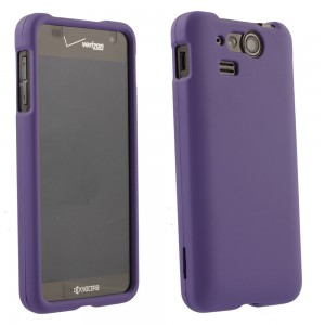 Purple Rubberized Protective Shield compatible with Kyocera Hydro C5170
