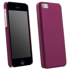 Purple Rubberized Protective Shield compatible with Apple iPhone 5c