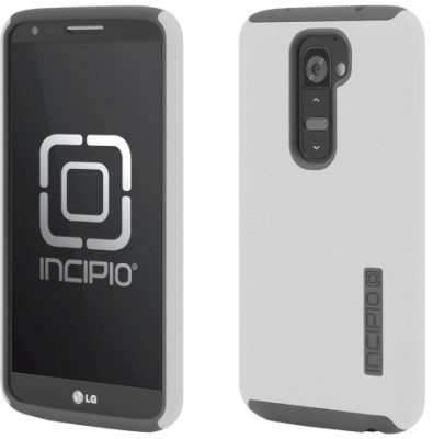 Incipio Technologies - DualPro Case for LG G2 in White/Gray