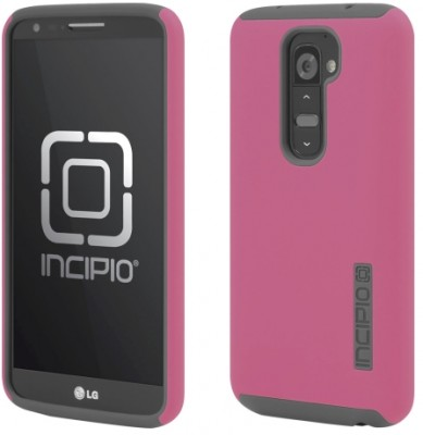 Incipio Technologies - DualPro Case for LG G2 in Pink/Gray