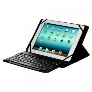 M-Edge Universal Stealth Folio Pro Case w/Bluetooth KeyBoard for all XL Tablets - Black