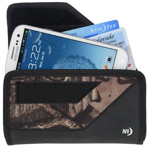 Nite-Ize Rugged Clip Verical Cargo Case for Extra Large Devices w/Fixed Belt Clip, Mossy Oak