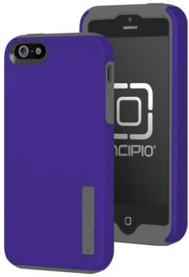 Incipio Technologies - DualPro Case for Apple iPhone 5s/5 in Rav'ns Purple/Gray