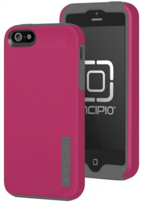 Incipio Technologies - DualPro Case for Apple iPhone 5s/5 in Gray/Pink