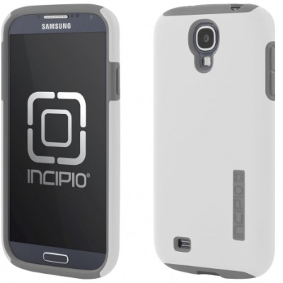 Incipio Technologies - DualPro Case for Samsung Galaxy S4 in WHT/GRY