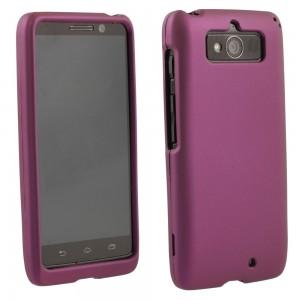Purple Rubberized Protective Shield compatible with Motorola Droid Mini