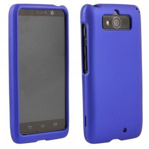 Blue Rubberized Protective Shield compatible with Motorola Droid Mini