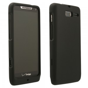 Black Rubberized Protective Shield compatible with Motorola Razr M XT907