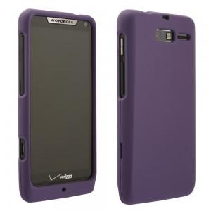 Purple Rubberized Protective Shield compatible with Motorola Razr M XT907