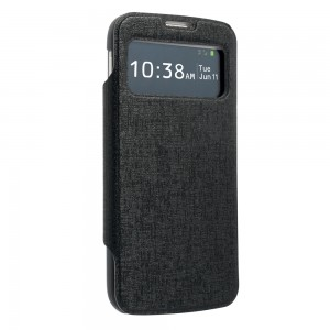 Upwardly Mobile Accessories Flip Cover for Samsung Galaxy S4, Black