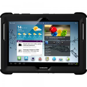 OtterBox DFENDER Series Case with Screen Protector and Stand for the 10.1-Inch Samsung Galaxy Tab 2 - Black