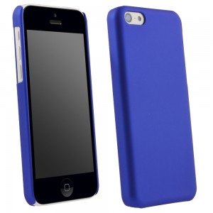 Blue Rubberized Protective Shield compatible with Apple iPhone 5c