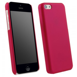 Pink Rubberized Protective Shield compatible with Apple iPhone 5c