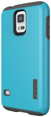 Incipio Technologies - DualPro Case for Samsung Galaxy S 5 in Cyan/Gray