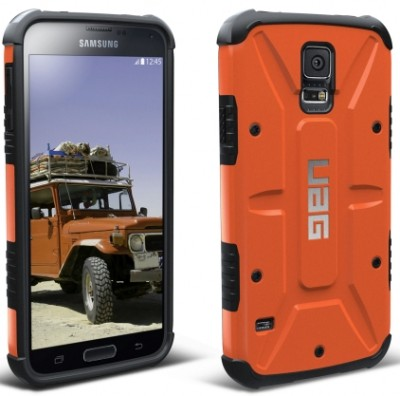 Urban Armor Gear - Composite Case for Samsung Galaxy S 5, Rust/Black