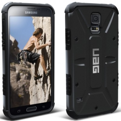 Urban Armor Gear - Composite Case for Samsung Galaxy S 5, Black/Black