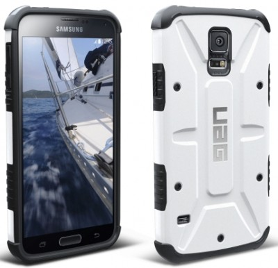 Urban Armor Gear - Composite Case for Samsung Galaxy S 5, White/Black