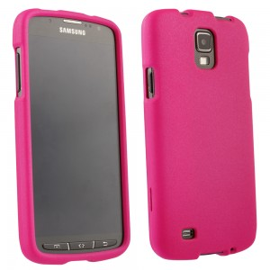Pink Rubberized Protective Shield compatible with Samsung Galaxy S4 Active