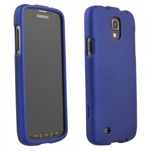 Blue Rubberized Protective Shield compatible with Samsung Galaxy S4 Active