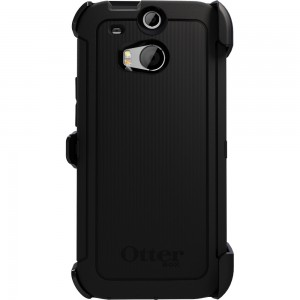 OtterBox DEFENDER Case w/Belt Clip, HTC One M8 - Black
