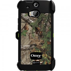 OtterBox DEFENDER Case w/Belt Clip, HTC One M8 - Real Tree Xtra Green/Glow