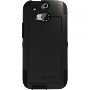 OtterBox COMMUTER Case (No Belt Clip), HTC One M8 - Black