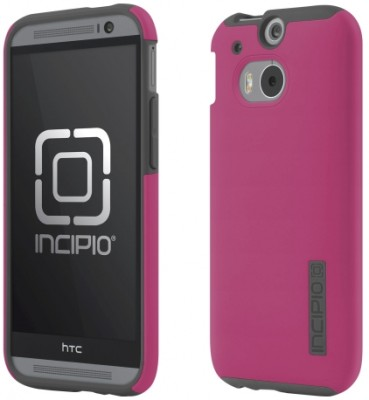 Incipio  One (M8) DualPro Case, Pink / Gray