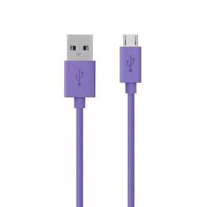 Belkin - MIXIT UP (4-Foot) Micro USB to USB Charge/Sync Cable, Purple