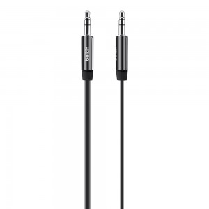 Belkin MixIt (3-Foot) Flat Aux Cable - Black. Compatible with any 3.5mm input device