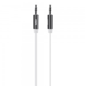 Belkin MixIt (3-Foot) Color Flat Aux Cable White. Compatible with any 3.5mm input device