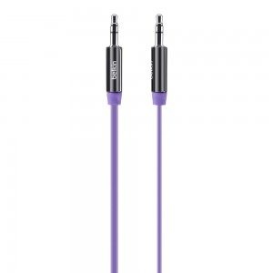 Belkin MixIt (3-Foot) Color Flat Aux Cable Purple. Compatible with any 3.5mm input device