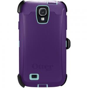 OtterBox DEFENDER Samsung Rugged Series Case w/Belt Clip, Samsung Galaxy S4 - Lily (Violet/Aqua)